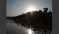 Varanasi im Gegenlicht