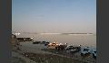 Anlegestelle für Boote am Ganges